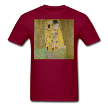 Load image into Gallery viewer, Klimt's The Kiss, Unisex Classic T-Shirt - burgundy