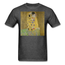 Load image into Gallery viewer, Klimt's The Kiss, Unisex Classic T-Shirt - heather black