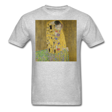 Load image into Gallery viewer, Klimt's The Kiss, Unisex Classic T-Shirt - heather gray