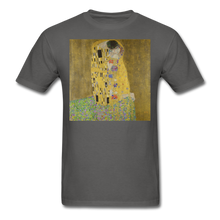 Load image into Gallery viewer, Klimt's The Kiss, Unisex Classic T-Shirt - charcoal