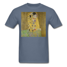 Load image into Gallery viewer, Klimt's The Kiss, Unisex Classic T-Shirt - denim