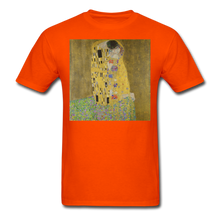 Load image into Gallery viewer, Klimt's The Kiss, Unisex Classic T-Shirt - orange