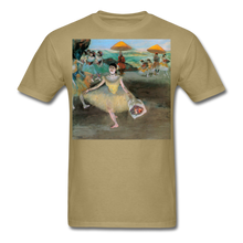 Load image into Gallery viewer, Dancer Bowing with Bouquet, Unisex Classic T-Shirt - khaki