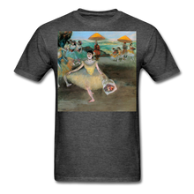 Load image into Gallery viewer, Dancer Bowing with Bouquet, Unisex Classic T-Shirt - heather black