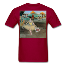 Load image into Gallery viewer, Dancer Bowing with Bouquet, Unisex Classic T-Shirt - dark red