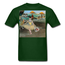 Load image into Gallery viewer, Dancer Bowing with Bouquet, Unisex Classic T-Shirt - forest green