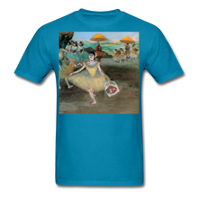 Load image into Gallery viewer, Dancer Bowing with Bouquet, Unisex Classic T-Shirt - turquoise