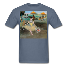 Load image into Gallery viewer, Dancer Bowing with Bouquet, Unisex Classic T-Shirt - denim