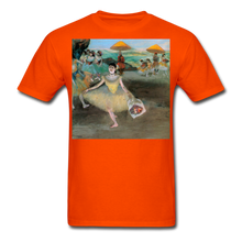 Load image into Gallery viewer, Dancer Bowing with Bouquet, Unisex Classic T-Shirt - orange
