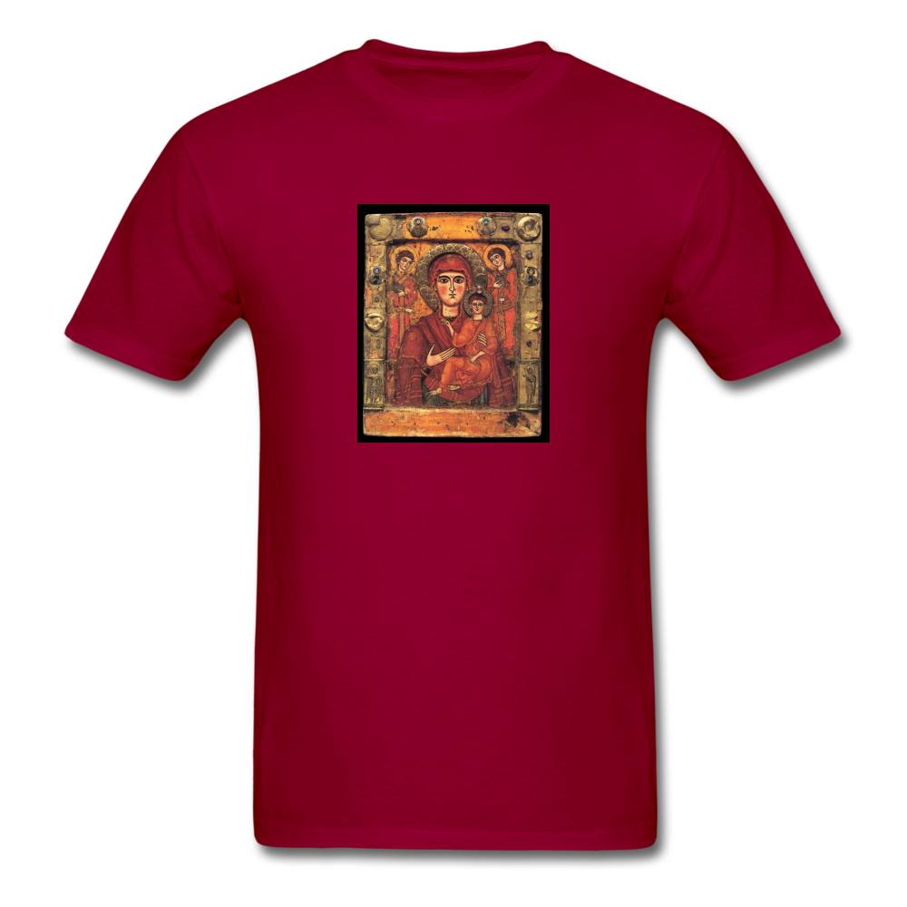 Madonna and Child, Men's T-Shirt - dark red