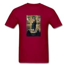 Load image into Gallery viewer, Immaculate Conception, Unisex T-Shirt - dark red
