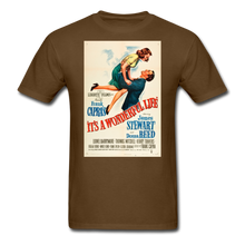 Load image into Gallery viewer, It's a Wonderful Life Poster, Unisex T-Shirt - brown