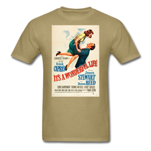 Load image into Gallery viewer, It's a Wonderful Life Poster, Unisex T-Shirt - khaki