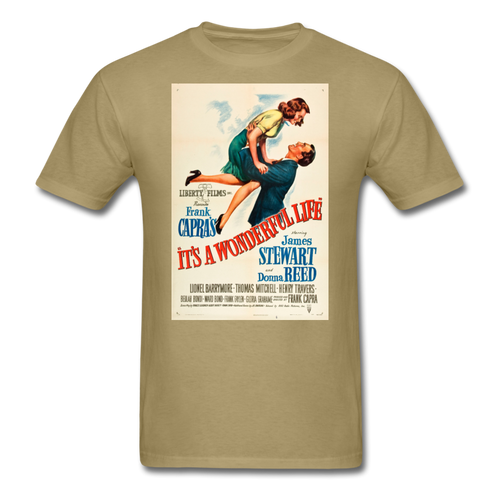 It's a Wonderful Life Poster, Unisex T-Shirt - khaki