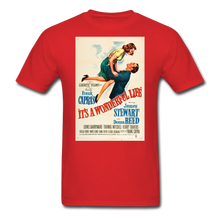 Load image into Gallery viewer, It's a Wonderful Life Poster, Unisex T-Shirt - red