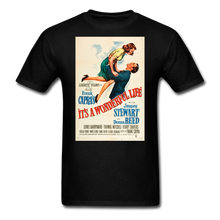 Load image into Gallery viewer, It's a Wonderful Life Poster, Unisex T-Shirt - black