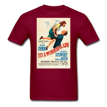 Load image into Gallery viewer, It's a Wonderful Life Poster, Unisex T-Shirt - burgundy