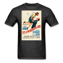 Load image into Gallery viewer, It's a Wonderful Life Poster, Unisex T-Shirt - heather black