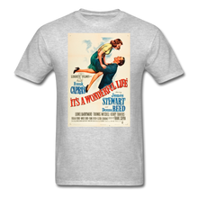Load image into Gallery viewer, It's a Wonderful Life Poster, Unisex T-Shirt - heather gray