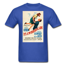 Load image into Gallery viewer, It's a Wonderful Life Poster, Unisex T-Shirt - royal blue