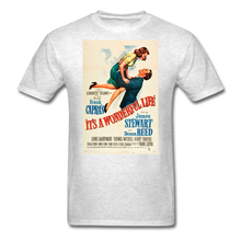 Load image into Gallery viewer, It's a Wonderful Life Poster, Unisex T-Shirt - light heather gray