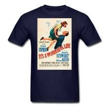 Load image into Gallery viewer, It's a Wonderful Life Poster, Unisex T-Shirt - navy