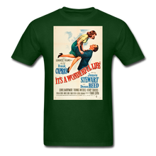 Load image into Gallery viewer, It's a Wonderful Life Poster, Unisex T-Shirt - forest green