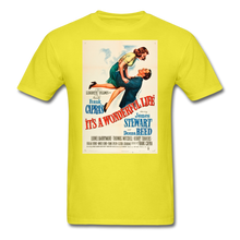 Load image into Gallery viewer, It's a Wonderful Life Poster, Unisex T-Shirt - yellow