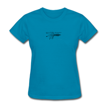Load image into Gallery viewer, Public Domain Merchandise Merch! Women's T-Shirt - turquoise