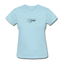 Load image into Gallery viewer, Public Domain Merchandise Merch! Women's T-Shirt - powder blue
