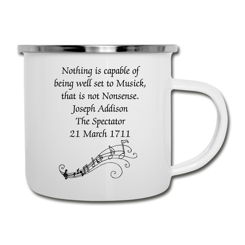 Nonsense Music, Camper Mug - white