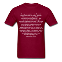 Load image into Gallery viewer, Everyone's Burden, Unisex Classic T-shirt - burgundy