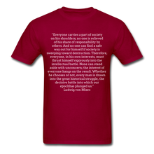 Load image into Gallery viewer, Everyone's Burden, Unisex Classic T-shirt - dark red