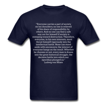 Load image into Gallery viewer, Everyone's Burden, Unisex Classic T-shirt - navy