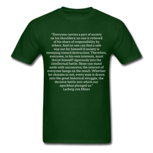 Load image into Gallery viewer, Everyone's Burden, Unisex Classic T-shirt - forest green