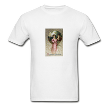 Load image into Gallery viewer, Vintage Valentine's Card, Hanes Adult Tagless T-Shirt - white