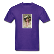 Load image into Gallery viewer, Vintage Valentine's Card, Hanes Adult Tagless T-Shirt - purple