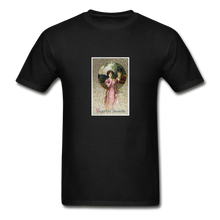 Load image into Gallery viewer, Vintage Valentine's Card, Hanes Adult Tagless T-Shirt - black