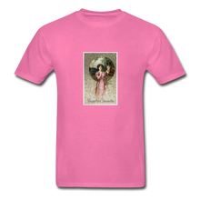 Load image into Gallery viewer, Vintage Valentine's Card, Hanes Adult Tagless T-Shirt - hot pink