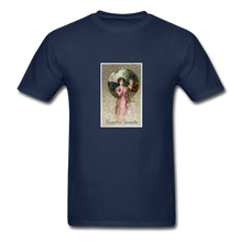 Load image into Gallery viewer, Vintage Valentine's Card, Hanes Adult Tagless T-Shirt - navy