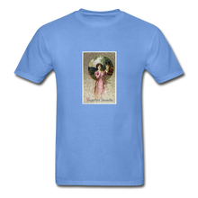 Load image into Gallery viewer, Vintage Valentine's Card, Hanes Adult Tagless T-Shirt - carolina blue
