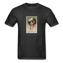 Load image into Gallery viewer, Vintage Valentine's Card, Hanes Adult Tagless T-Shirt - charcoal gray