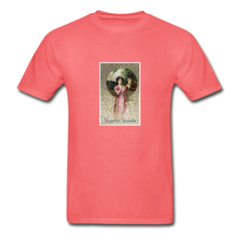 Load image into Gallery viewer, Vintage Valentine's Card, Hanes Adult Tagless T-Shirt - coral