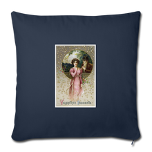 "Load image into Gallery viewer, Vintage Valentine Throw Pillow Cover 18"" x 18"" - navy"