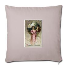 "Load image into Gallery viewer, Vintage Valentine Throw Pillow Cover 18"" x 18"" - light taupe"
