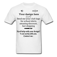Load image into Gallery viewer, School Club Shirt, Unisex Classic T-Shirt - white
