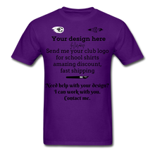 Load image into Gallery viewer, School Club Shirt, Unisex Classic T-Shirt - purple
