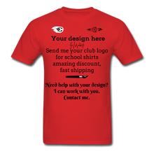 Load image into Gallery viewer, School Club Shirt, Unisex Classic T-Shirt - red