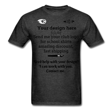 Load image into Gallery viewer, School Club Shirt, Unisex Classic T-Shirt - heather black