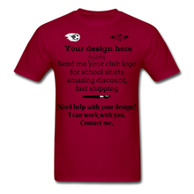Load image into Gallery viewer, School Club Shirt, Unisex Classic T-Shirt - dark red